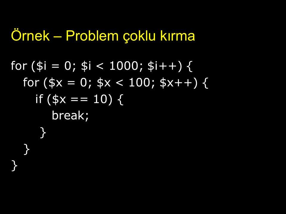 Örnek – Problem çoklu kırma