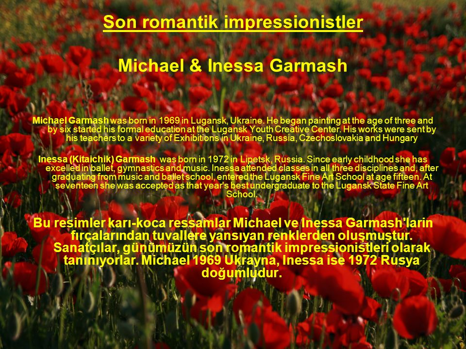 Son romantik impressionistler Michael & Inessa Garmash