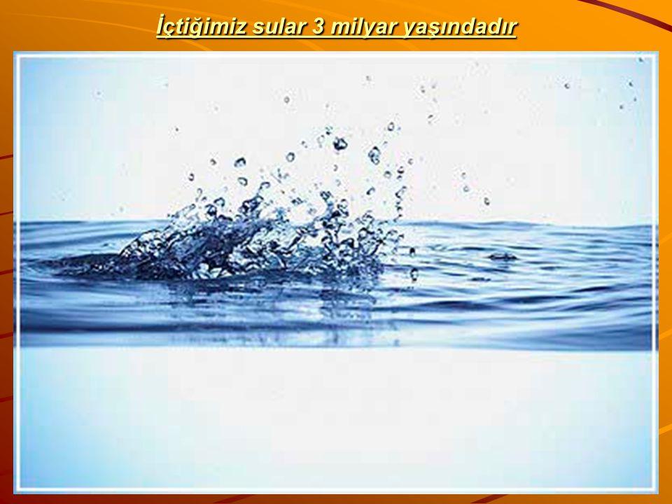 İçtiğimiz sular 3 milyar yaşındadır