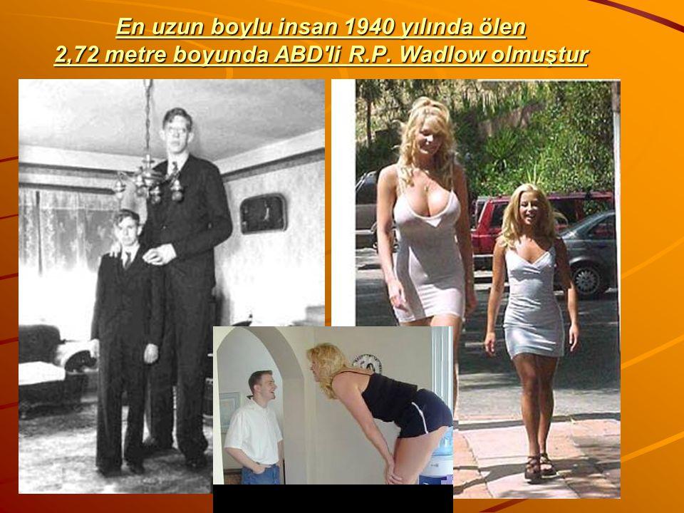En uzun boylu insan 1940 yılında ölen 2,72 metre boyunda ABD li R. P