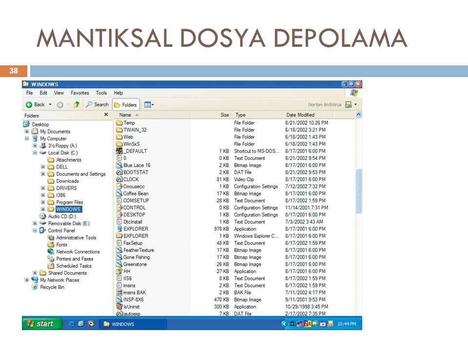 MANTIKSAL DOSYA DEPOLAMA