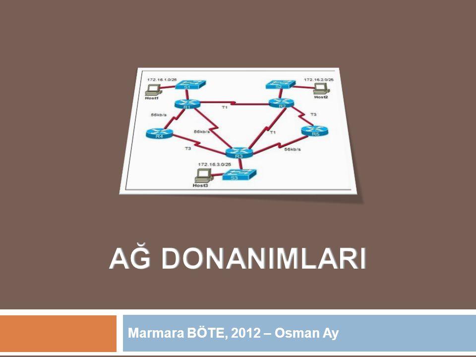 AĞ DONANIMLARI Marmara BÖTE, 2012 – Osman Ay