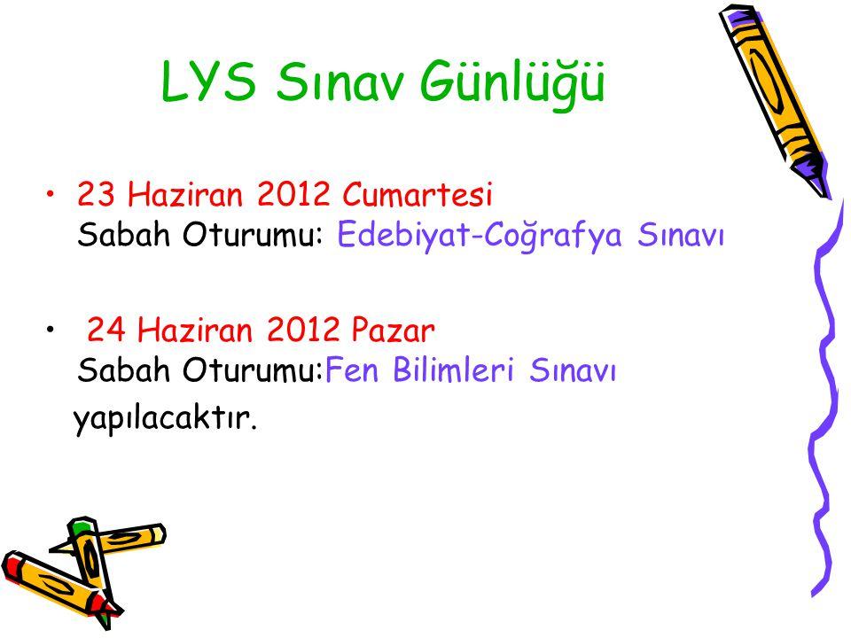 LYS Sınav Günlüğü 23 Haziran 2012 Cumartesi Sabah Oturumu: Edebiyat-Coğrafya Sınavı.