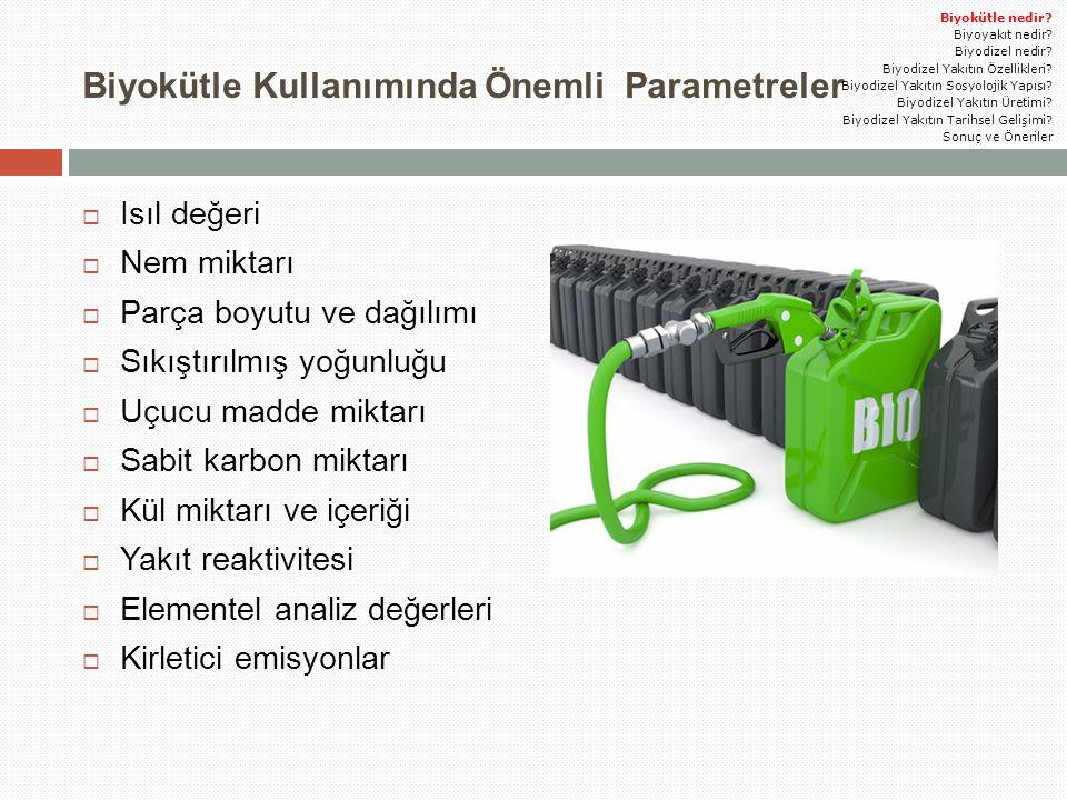 Biyokütle Kullanımında Önemli Parametreler