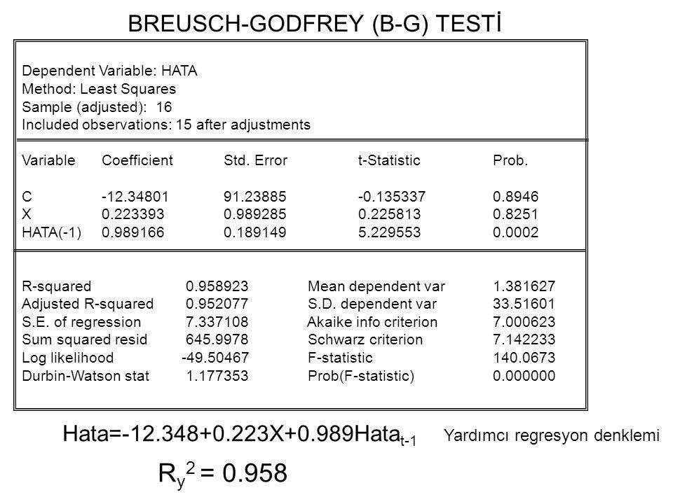 BREUSCH-GODFREY (B-G) TESTİ