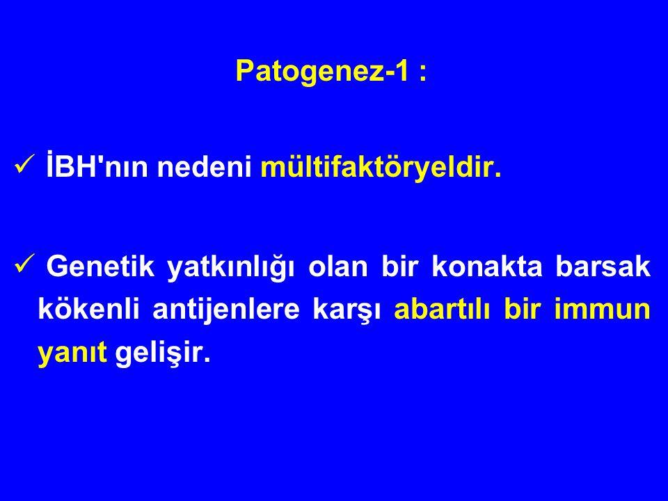 Patogenez-1 : İBH nın nedeni mültifaktöryeldir.