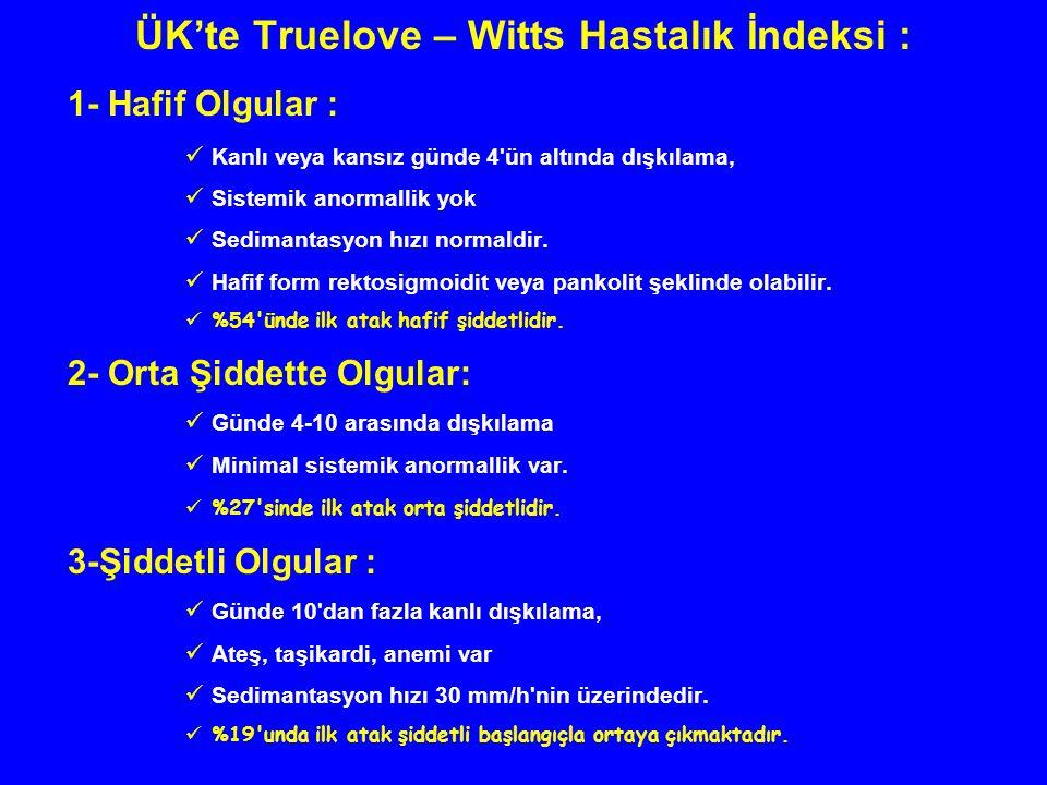 ÜK'te Truelove – Witts Hastalık İndeksi :