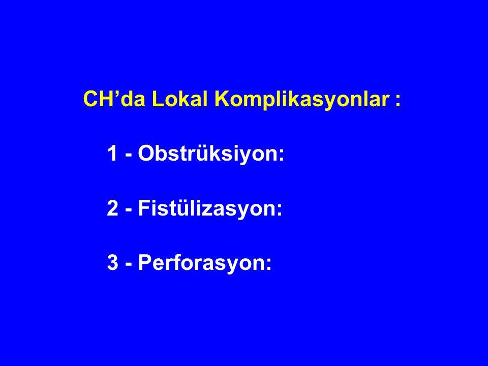 CH'da Lokal Komplikasyonlar :