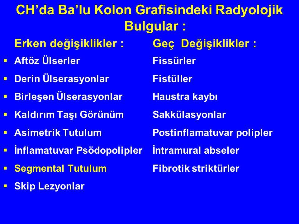 CH'da Ba'lu Kolon Grafisindeki Radyolojik Bulgular :