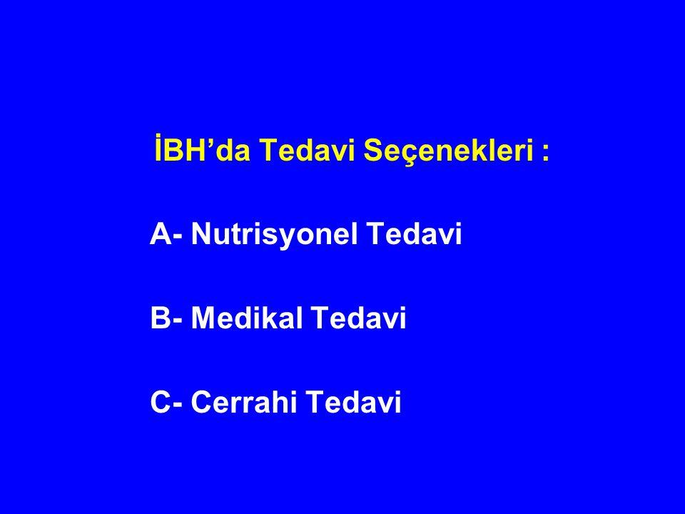 İBH'da Tedavi Seçenekleri :