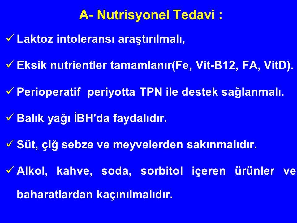 A- Nutrisyonel Tedavi :