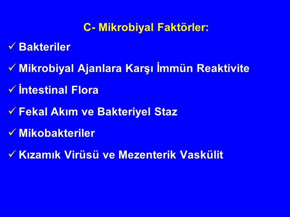C- Mikrobiyal Faktörler: