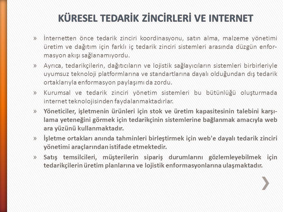 KÜRESEL TEDARİK ZİNCİRLERİ VE INTERNET