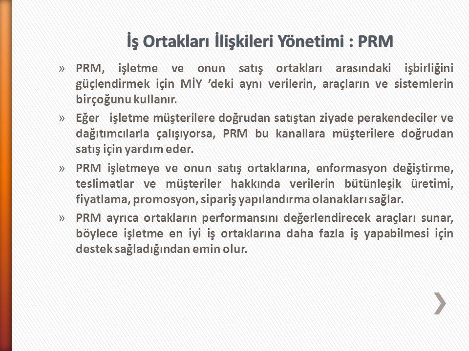 İş Ortakları İlişkileri Yönetimi : PRM