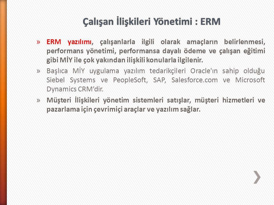 Çalışan İlişkileri Yönetimi : ERM