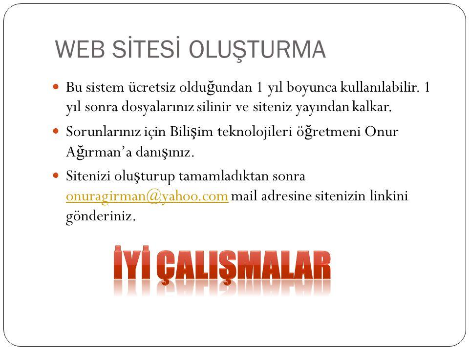 İYİ ÇALIŞMALAR WEB SİTESİ OLUŞTURMA
