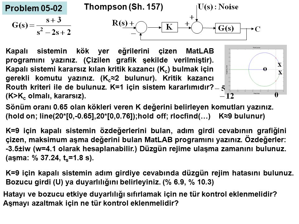 Thompson (Sh. 157) Problem 05-02