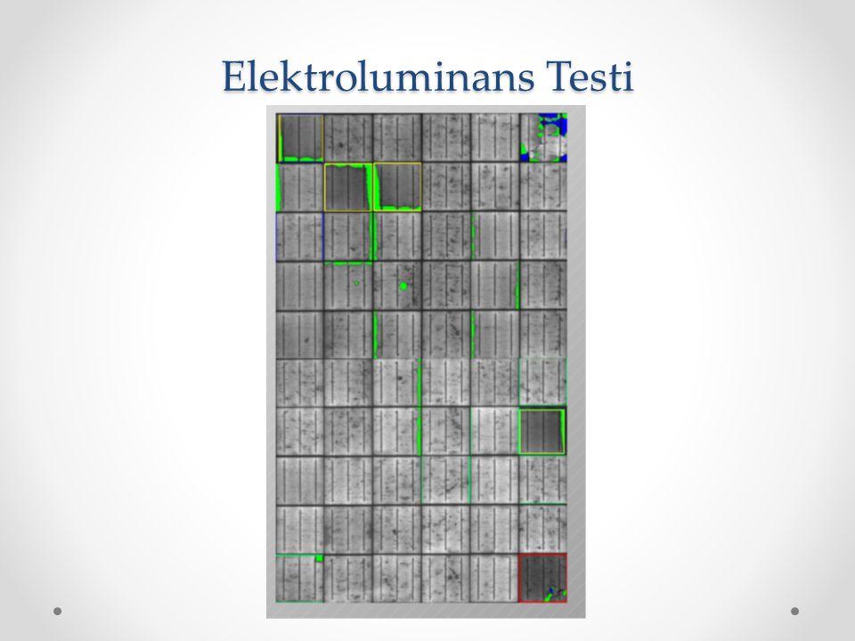 Elektroluminans Testi