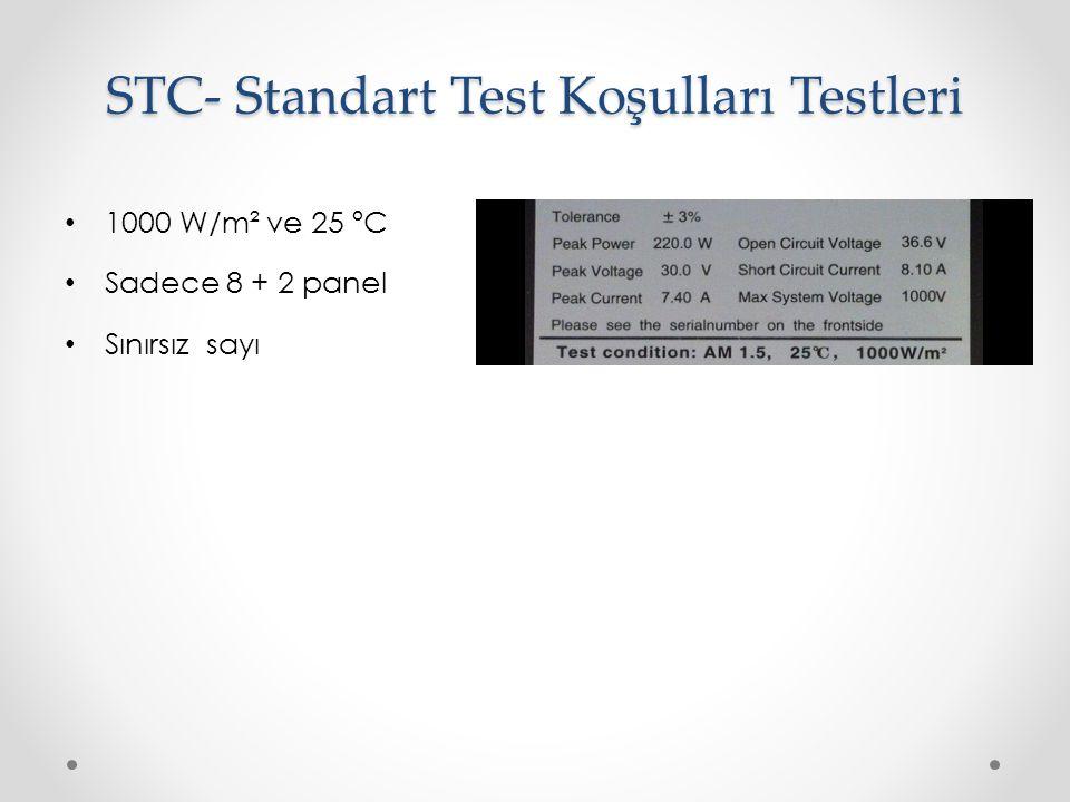 STC- Standart Test Koşulları Testleri
