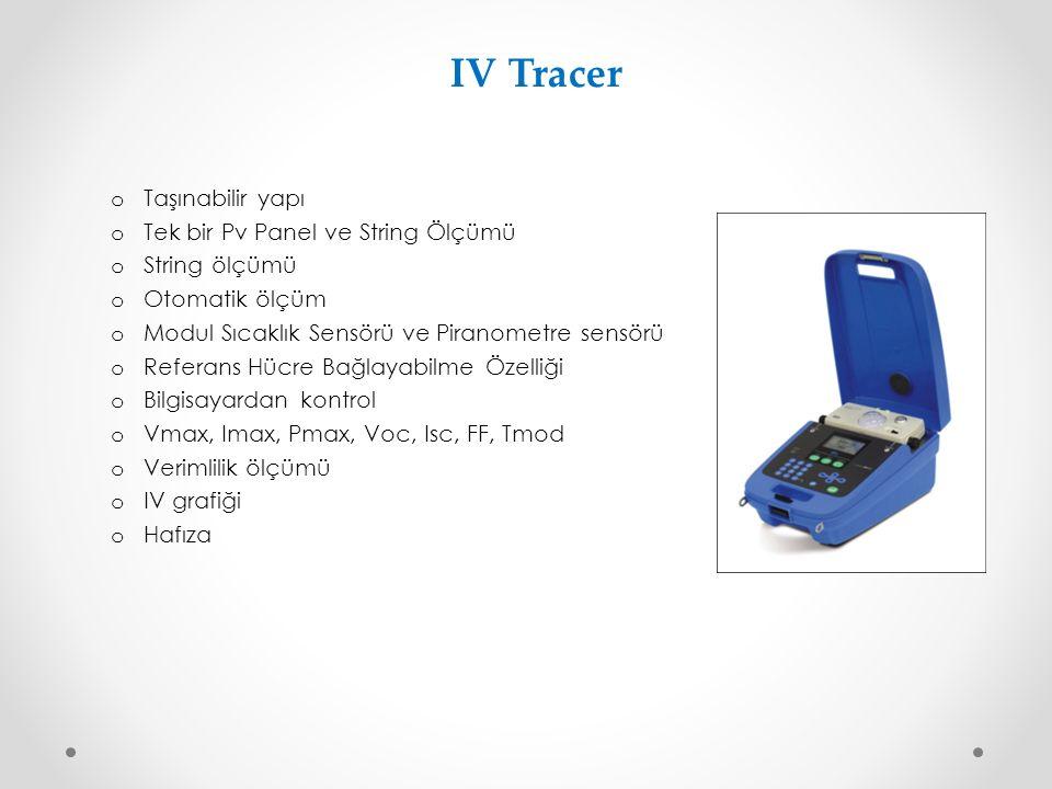 IV Tracer Taşınabilir yapı Tek bir Pv Panel ve String Ölçümü