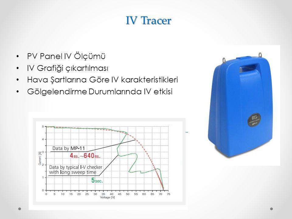IV Tracer PV Panel IV Ölçümü IV Grafiği çıkartılması