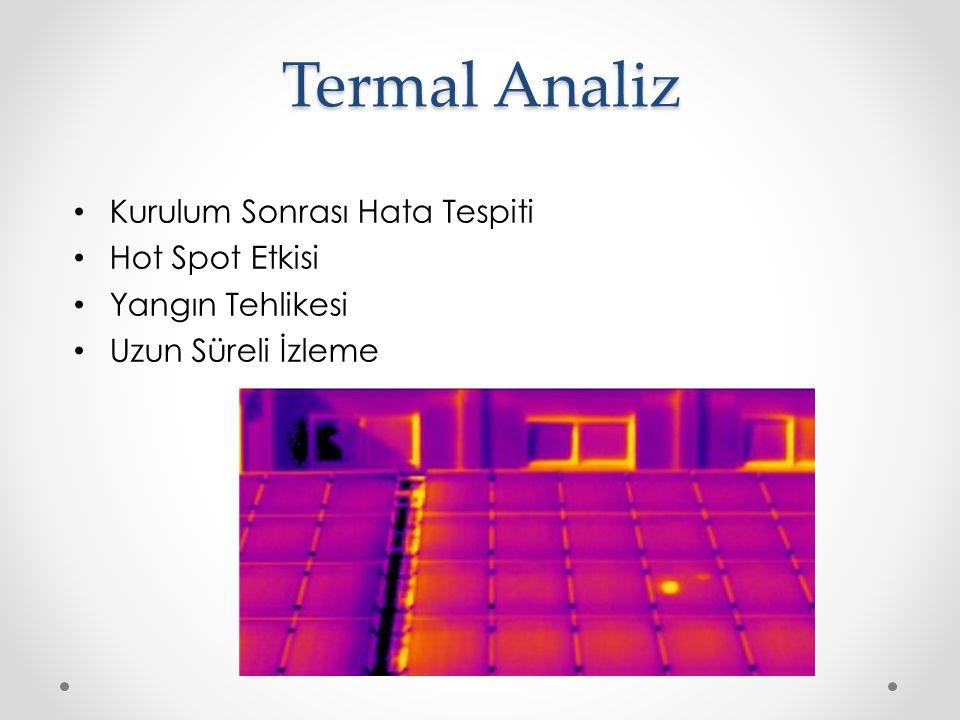 Termal Analiz Kurulum Sonrası Hata Tespiti Hot Spot Etkisi