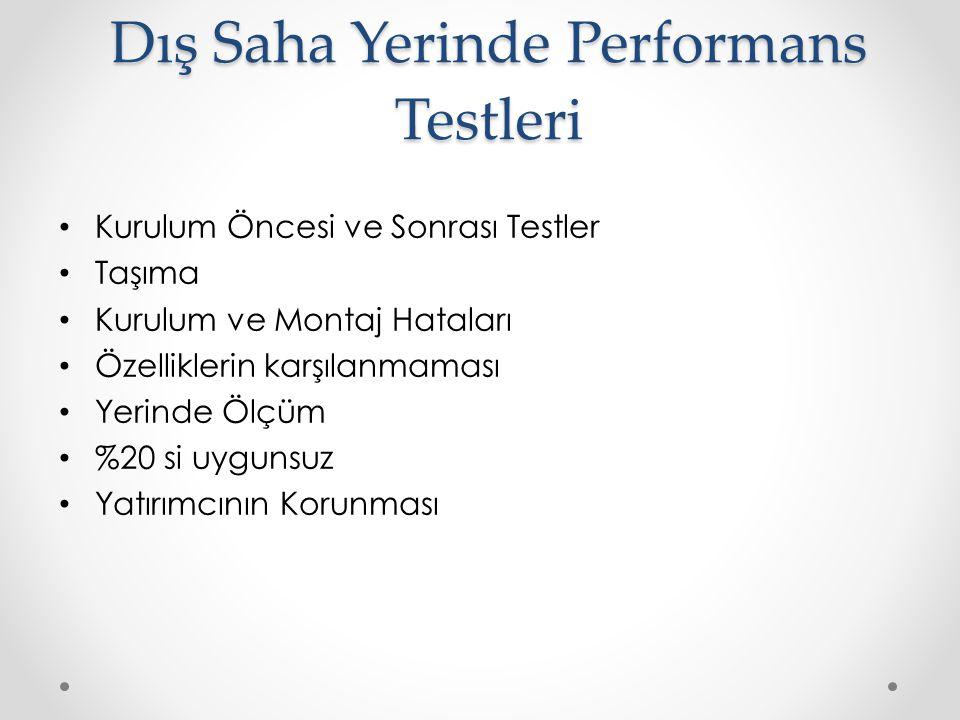 Dış Saha Yerinde Performans Testleri