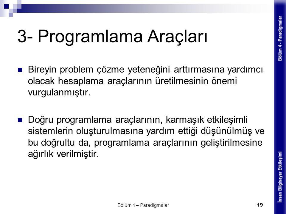3- Programlama Araçları