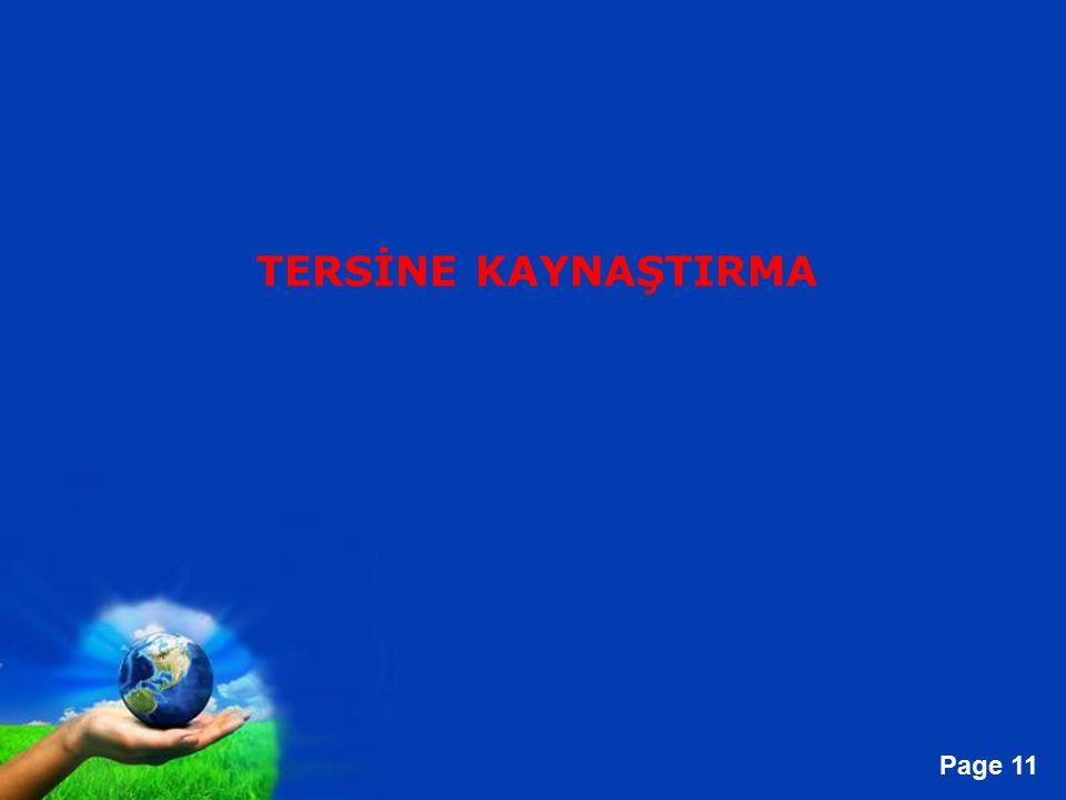 TERSİNE KAYNAŞTIRMA