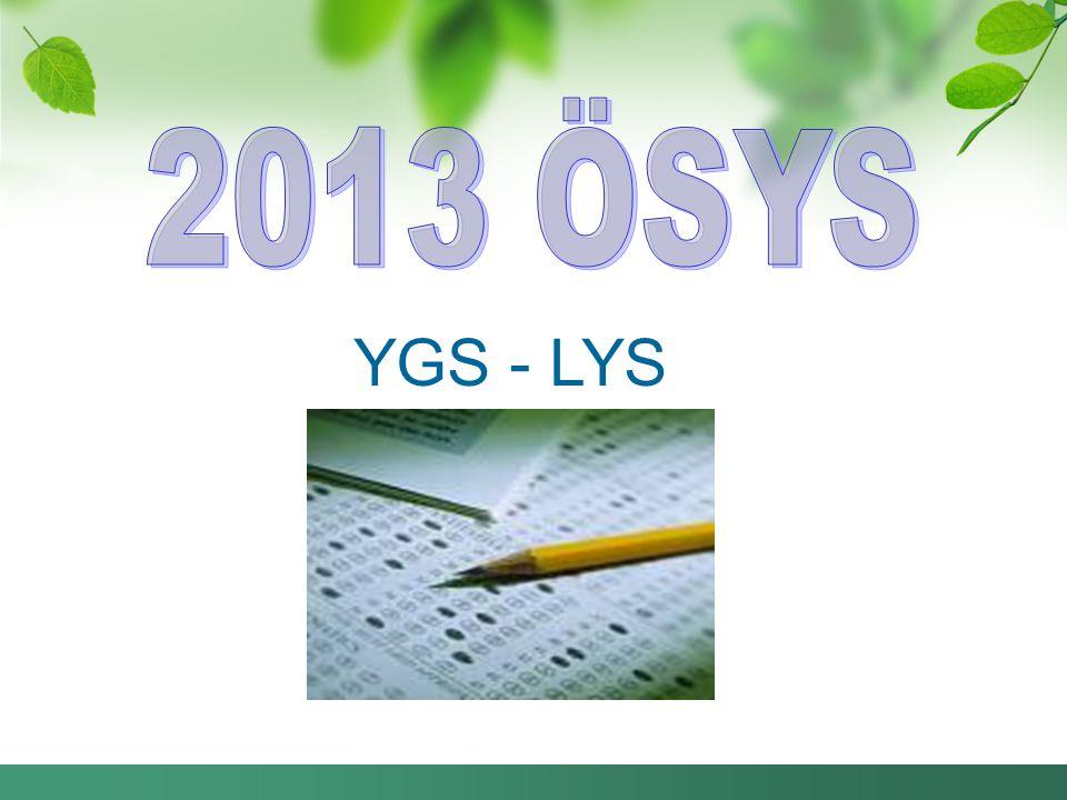 2013 ÖSYS YGS - LYS
