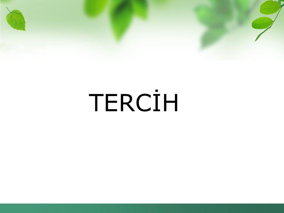 TERCİH