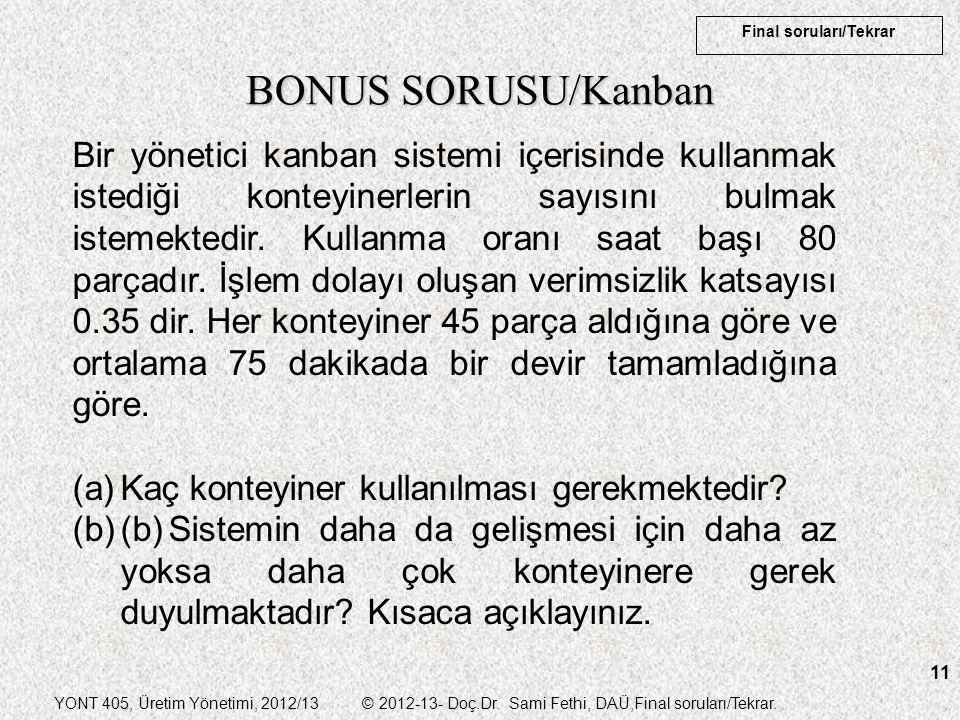 BONUS SORUSU/Kanban