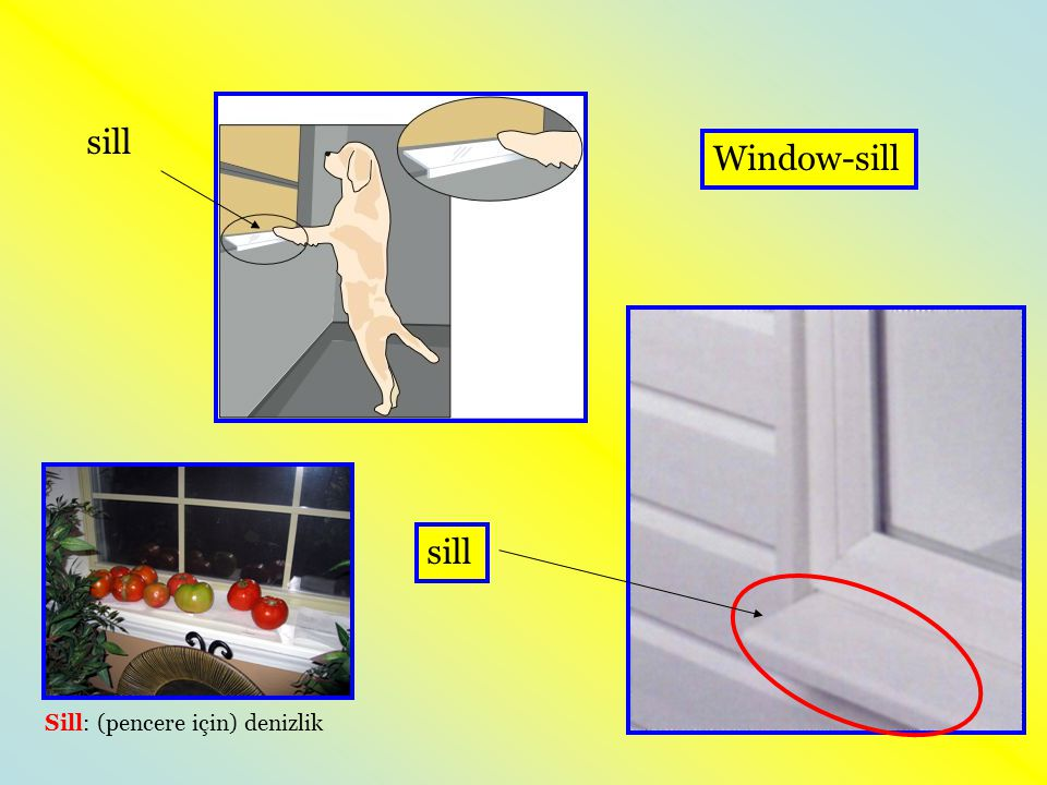 sill Window-sill sill Sill: (pencere için) denizlik