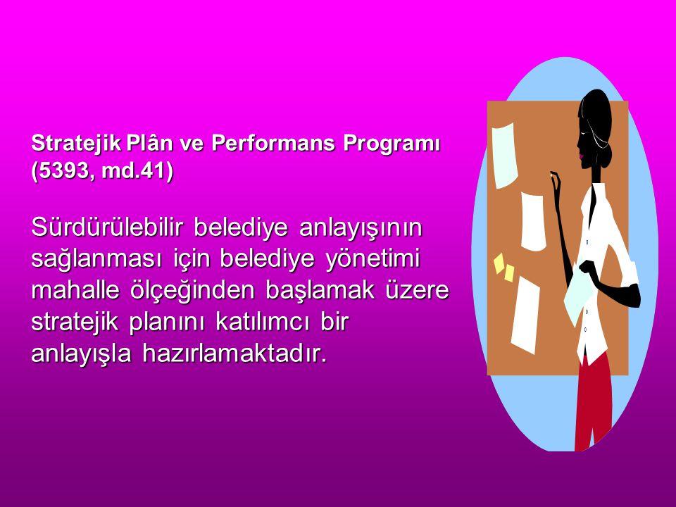 Stratejik Plân ve Performans Programı (5393, md