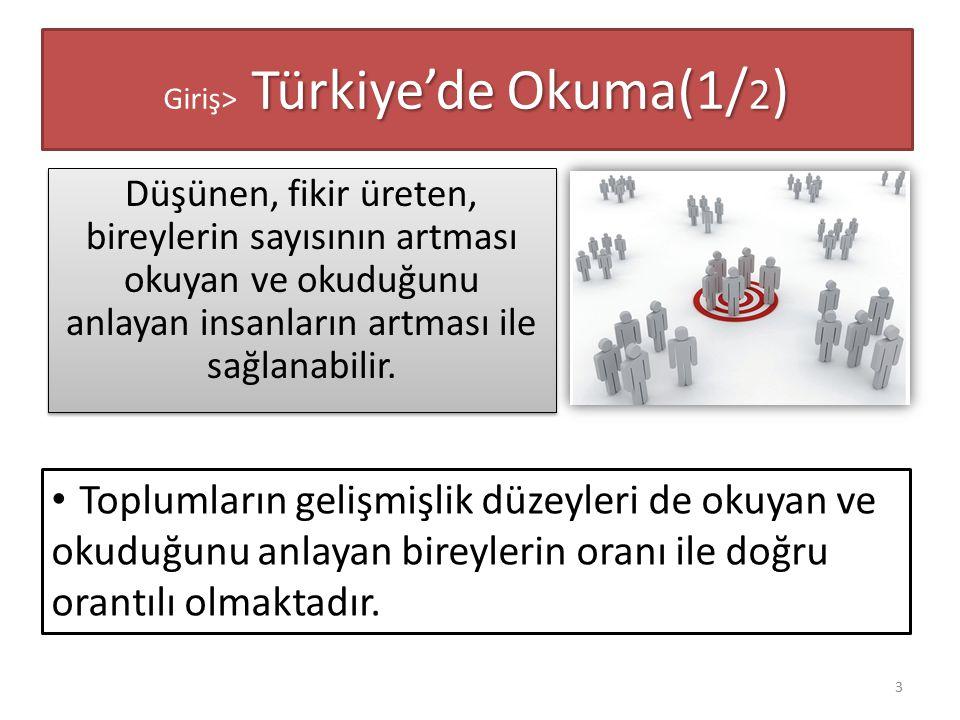 Giriş> Türkiye'de Okuma(1/2)