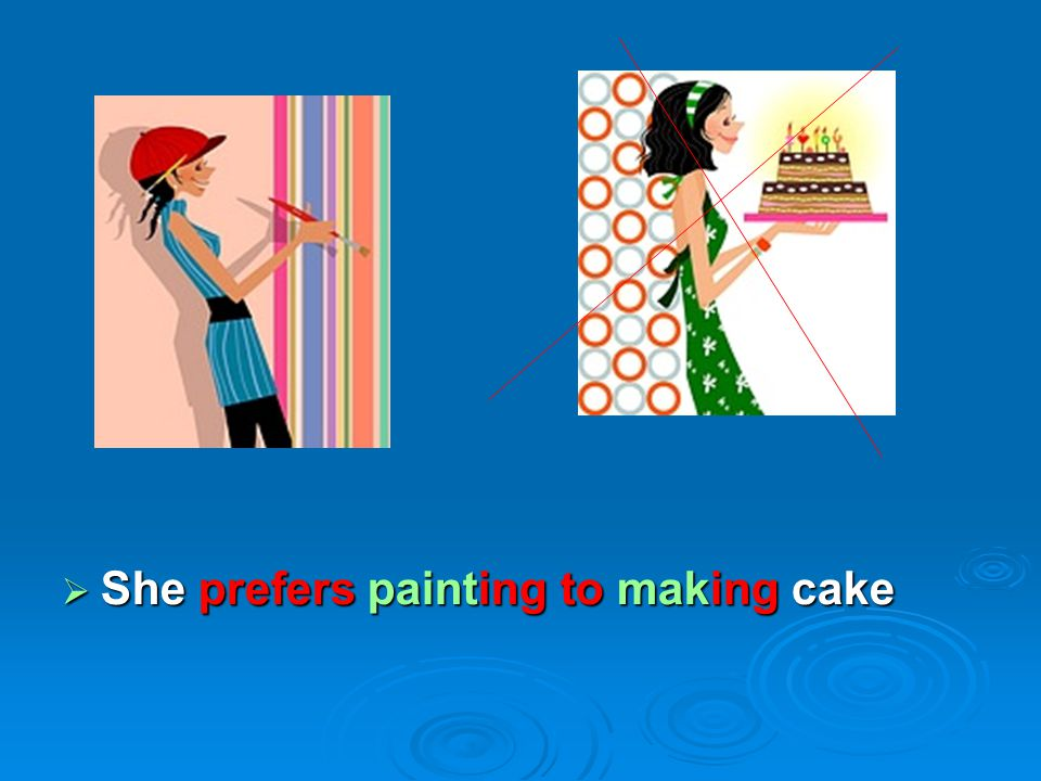 She prefers painting to making cake