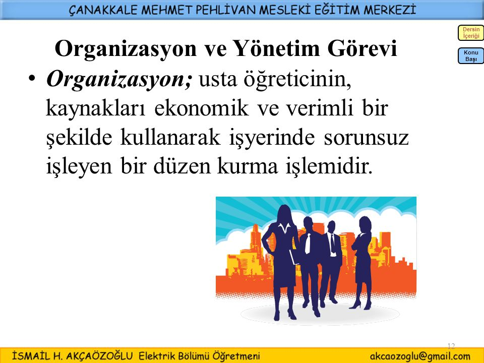 Organizasyon ve Yönetim Görevi