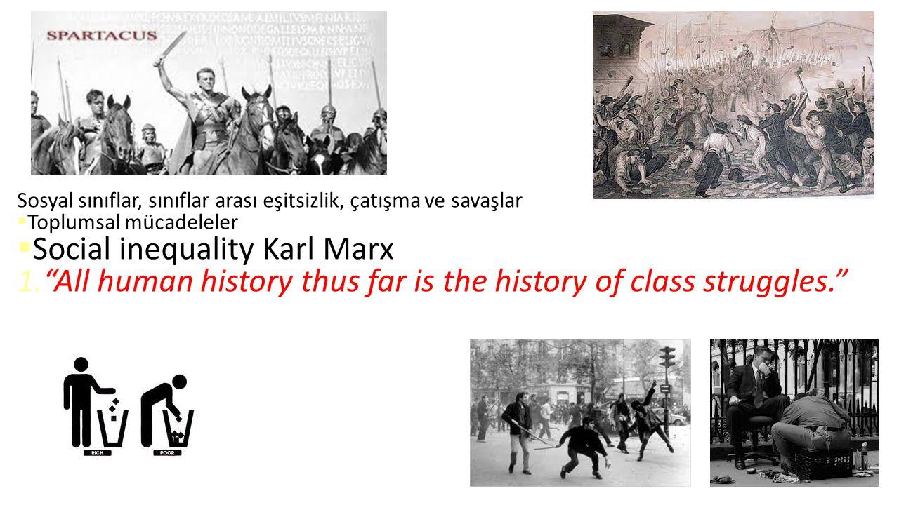Social inequality Karl Marx