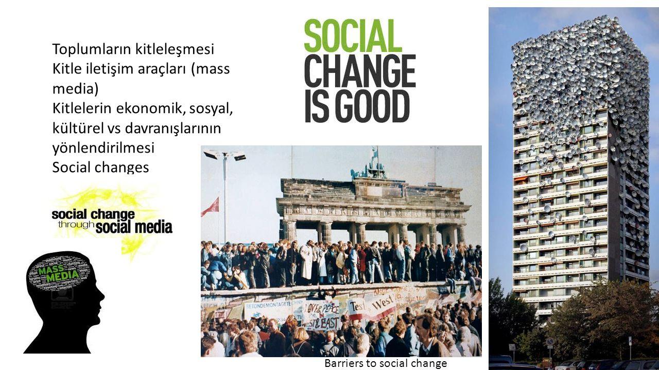 Toplumların kitleleşmesi Kitle iletişim araçları (mass media)