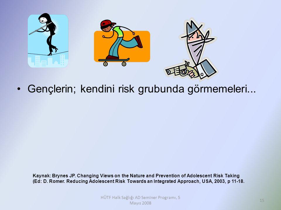 HÜTF Halk Sağlığı AD Seminer Programı, 5 Mayıs 2008