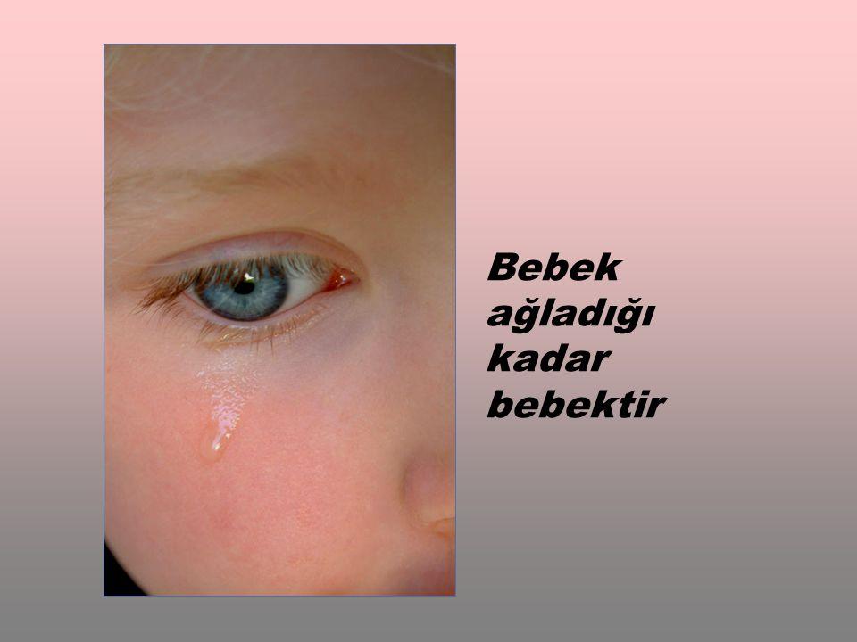 Bebek ağladığı kadar bebektir
