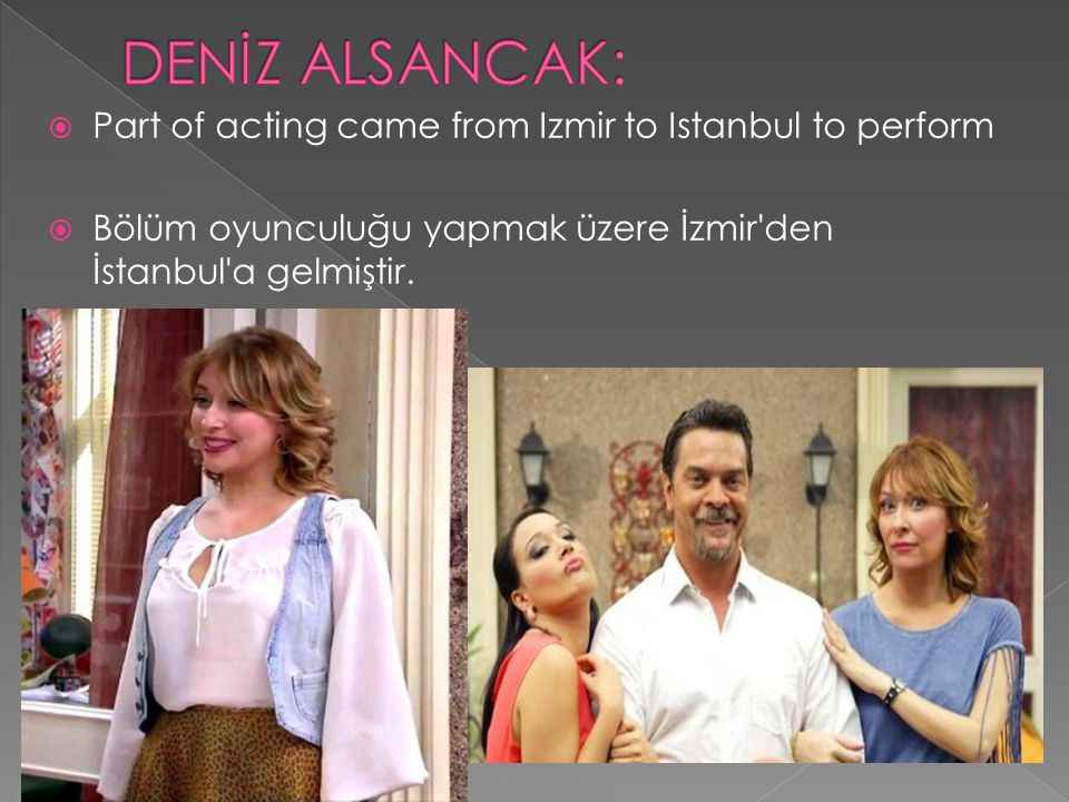 DENİZ ALSANCAK: Part of acting came from Izmir to Istanbul to perform