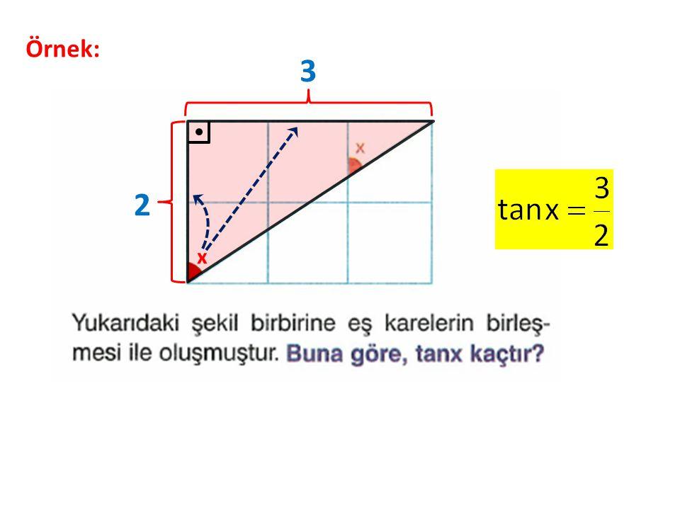 Örnek: 3 2 x