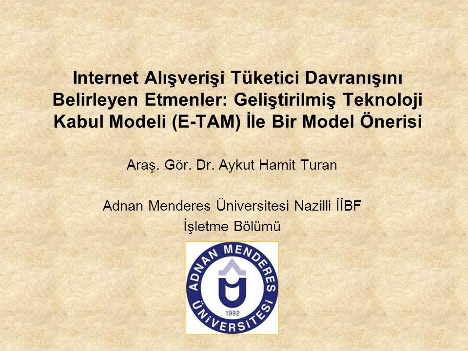 Internet Alışverişi Tüketici Davranışını Belirleyen Etmenler: Geliştirilmiş Teknoloji Kabul Modeli (E-TAM) İle Bir Model Önerisi