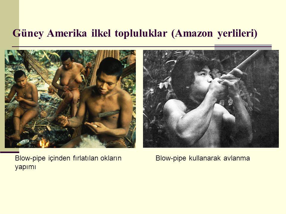 Güney Amerika ilkel topluluklar (Amazon yerlileri)