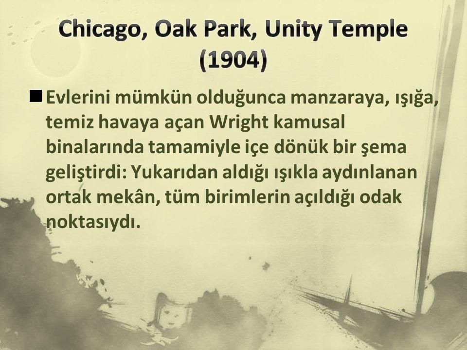 Chicago, Oak Park, Unity Temple (1904)