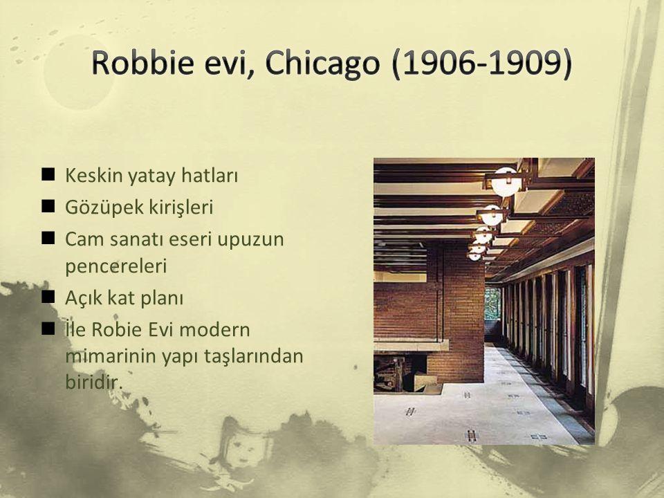 Robbie evi, Chicago (1906-1909) Keskin yatay hatları Gözüpek kirişleri