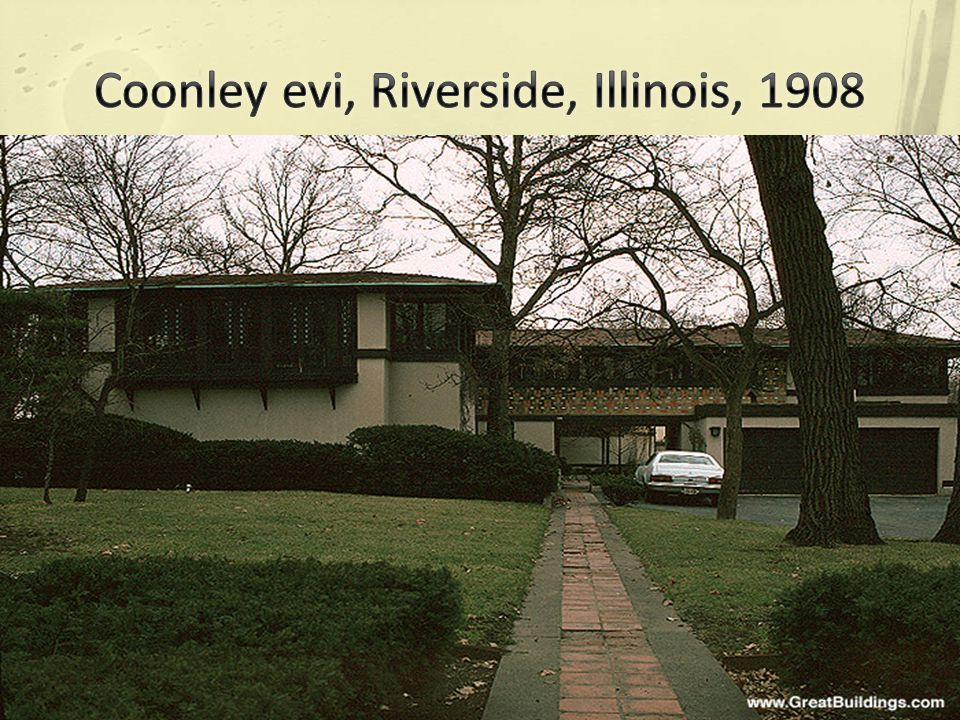 Coonley evi, Riverside, Illinois, 1908