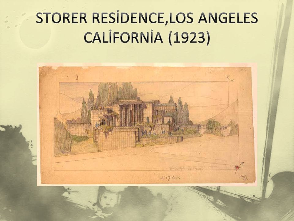 STORER RESİDENCE,LOS ANGELES CALİFORNİA (1923)