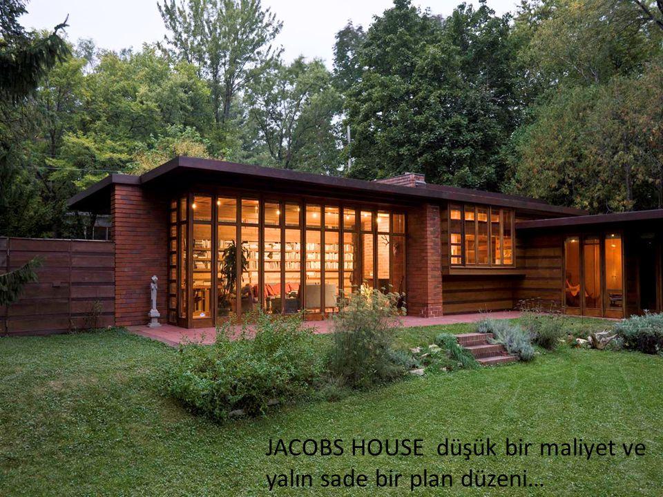 JACOBS HOUSE düşük bir maliyet ve yalın sade bir plan düzeni…